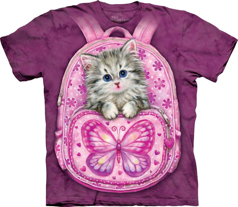 Футболка The Mountain - Backpack Kitty