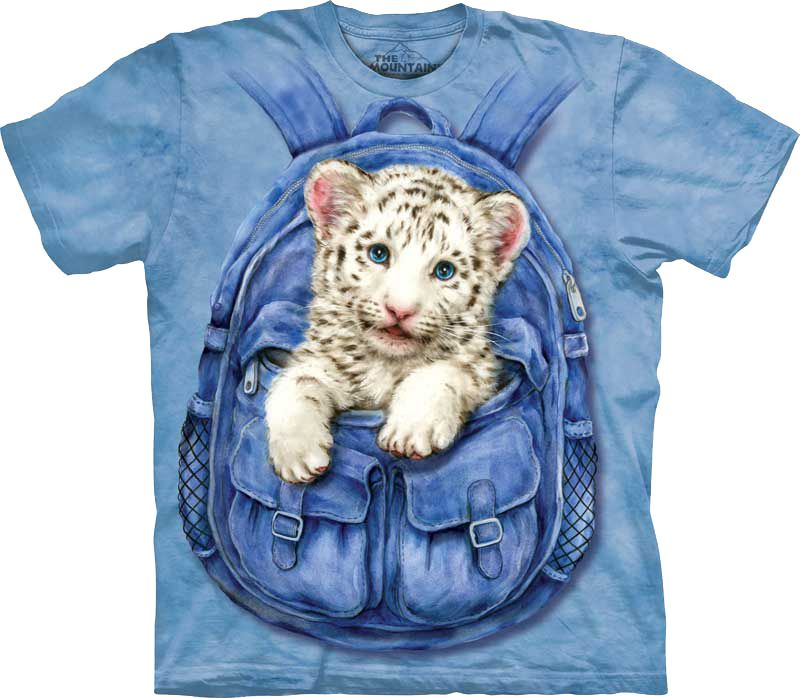 Футболка The Mountain - Backpack White Tiger